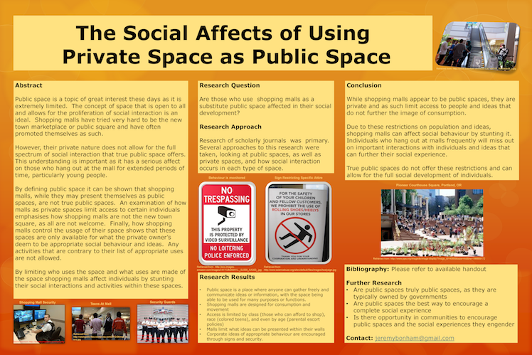 Are Shopping Malls Private Or Public Space The Effects