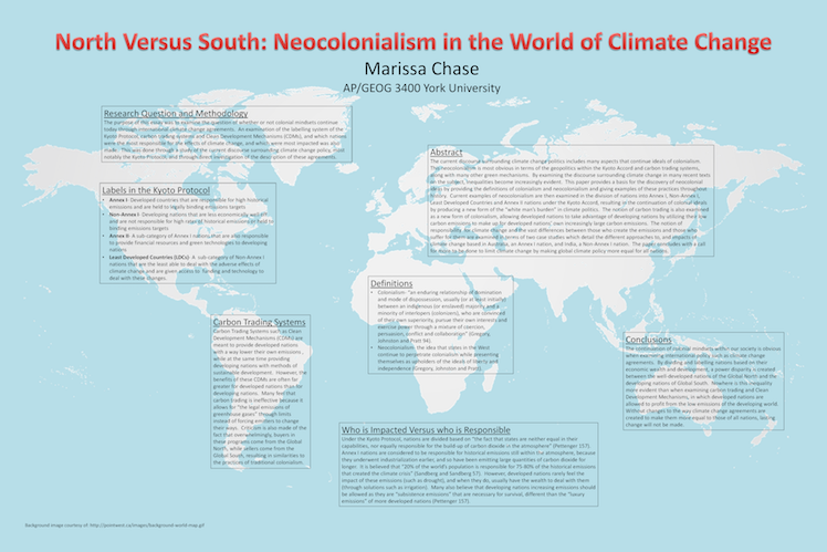north versus south neocolonialism in the world of climate